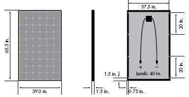 Dimensiones de los módulos solares fotovoltaicos
