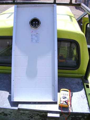 Modulo solar y multimetro