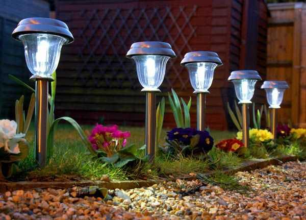 Luminarias para jardin perfect luminaria led de jardn con giro a prueba de agua pfiestas with - Lampara solares para jardin ...
