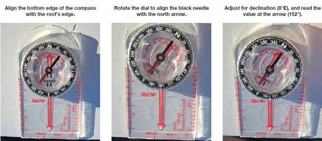 azimuth,azimuth calculator,measuring roof azimuth,roof azimuth tool